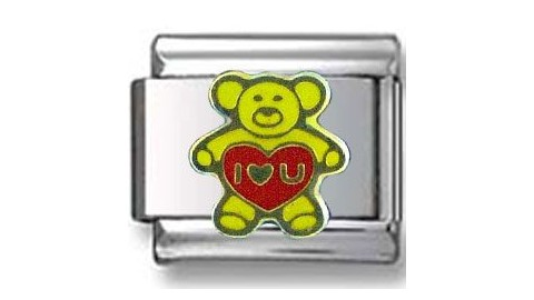 Loving Teddy Bear Italian Charm
